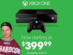 The new look of the Xbox One sans Kinect, and the new price.