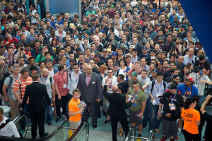 In this photo by the Entertainment Software Association (ESA), lots of people wait to get into E3 2014. But once there, what were the best things to see?
