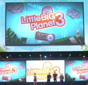 Little Big Planet 3 running on a PS4.