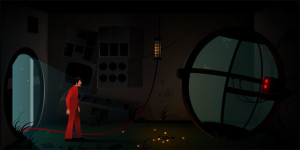 A gameplay screenshot from The Silent Age, a game that has captured Meg's imagination this week.
