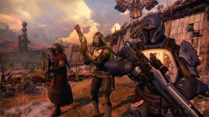 The gang's all here. Destiny features three playable character types with each focused on a slightly different combat style.
