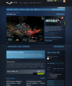 One of the new Steam pages for the upcoming Invisible RPG.