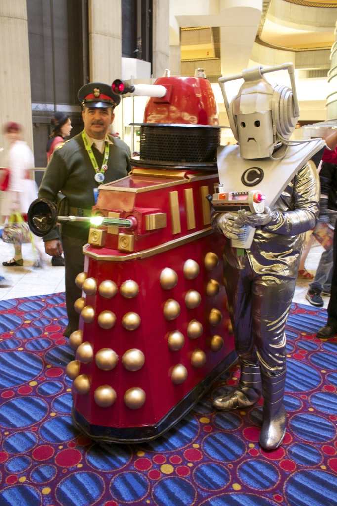 Doctor? Here are Col. Lethbridge-Stewart, a Dalek and Cyberman, all era appropriate.