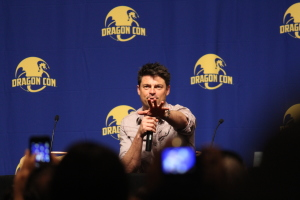Celebrity guests this year included Karl Urban who entered his panel acting out his PeachTrees speech from Judge Dredd. The crowd, justifiably, went nuts.