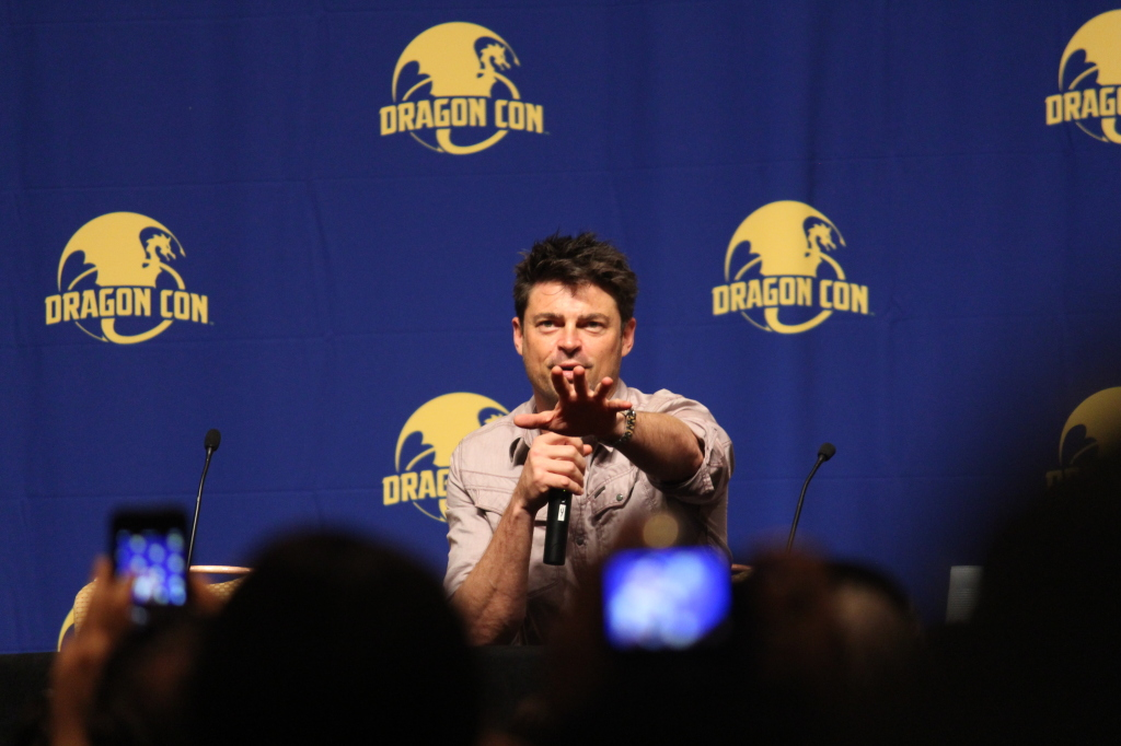Karl Urban (of note, he entered doing his PeachTrees speech from Judge Dredd.  We were sitting in a ballroom, located on Peachtree Street.  The crowd, justifiably, went nuts.)
