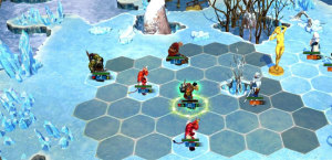 Battle in the snow. Orcs versus demons or shirts versus skins?