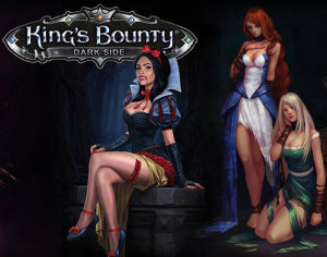 Much of the artwork in King Bounty Dark Side plays with the fact that you are a dark hero. Its still playful, but flirts with being bad.