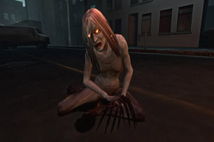 The Witch from Left 4 Dead - wailing and helpless, unless you try to help her and then it's game over sucker