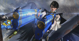 With two guns plus shoe guns, Bayonetta is dressed for any occasion.