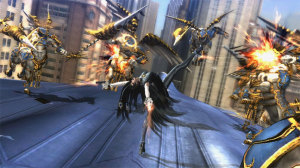 Bayonetta always seems to be outnumbered, and yet, never seems to be outgunned.