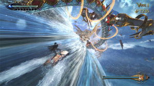In her free time, Bayonetta likes to do a little surfing.