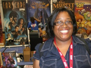 Karen Jones enjoying life and gaming culture. She will be deeply missed.