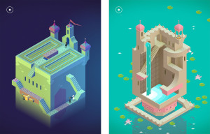 Mangical palaces, which can be manipulated to create new paths
