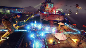 If you want to stay alive in Sunset Overdrive, you have to keep moving, which adds to the frantic pace of the gameplay.