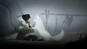 Nuna and fox in Never Alone.