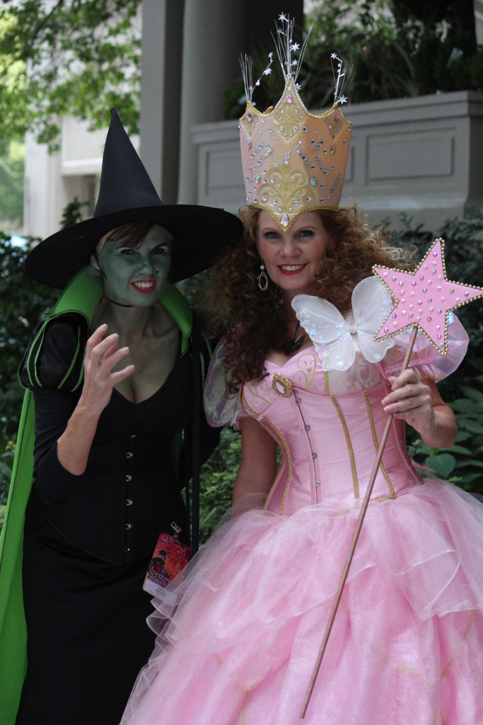 Beautiful costumes from the Wizard of Oz - Glinda and Elphaba. Are you a good witch or a bad witch?