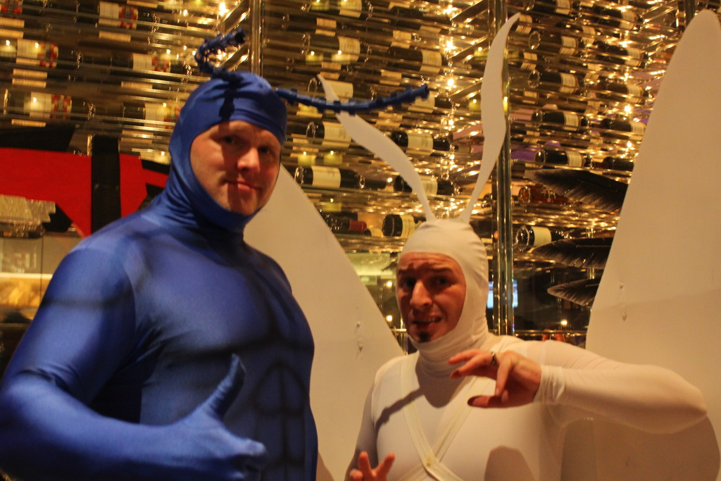 The Tick and Arthur, because they're awesome.