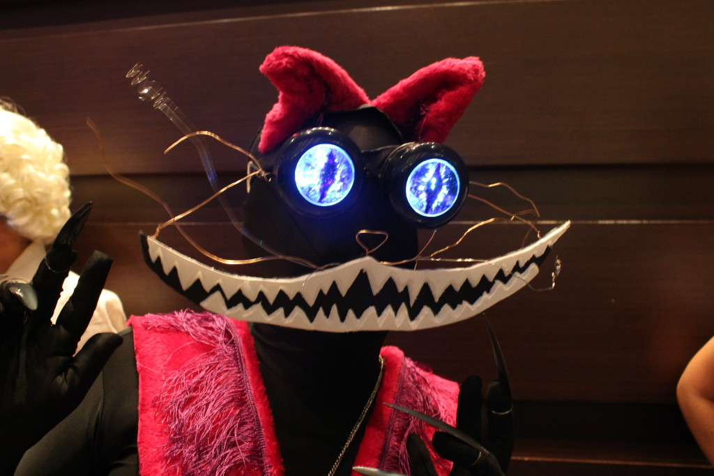 A fascinatingly done Cheshire Cat.