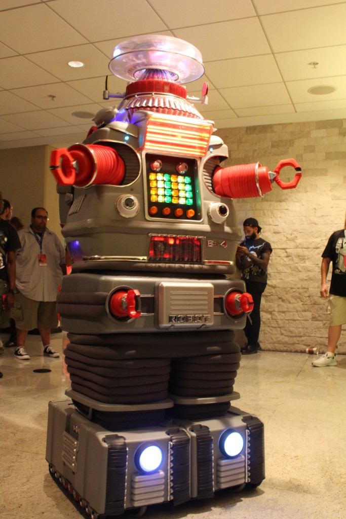 The robot B-9 from Lost in Space, and this guy could move and speak!