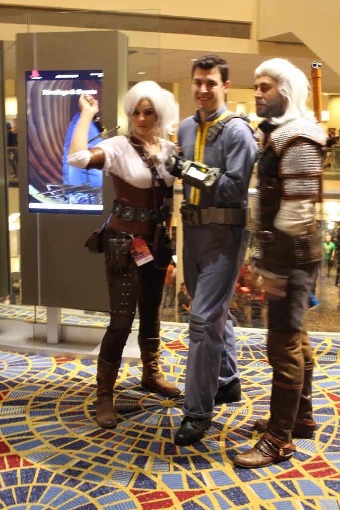 Mixed game warning. Here characters from The Witcher join a vault dweller from Fallout.