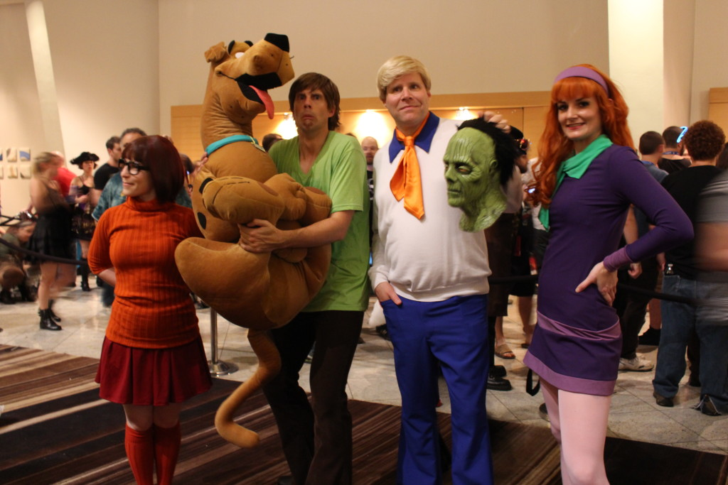In the accuracy category, you would have to include this Scooby Doo cosplay group. Please give them a Scooby-Snack for being so deliciously awesome.