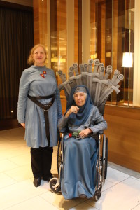 DragonCon has always been disability accessible, and this year many costumes featured assistive devices. Check out this amazing Iron Throne!