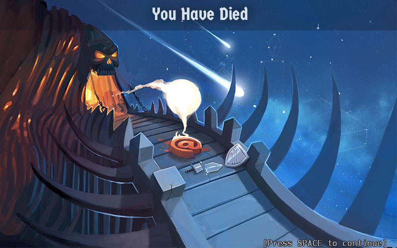 Dang it! Perma-death was ON? Thanks, player. Thanks a lot.