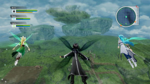 I'm flying! I'm flying! Well, this is different for the Sword Art series.