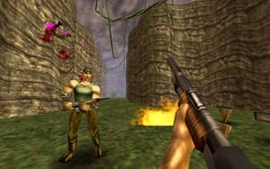 One of the enemies of Turok is the human soldier.