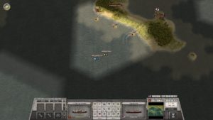 part of the mission is to land units using ships to capture islands.