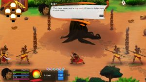 The world of Aurion is a fascinating place. Here is a scene during combat with poles that have human hands.