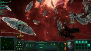 A battle scene being played out in realtime.