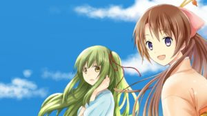 Two main characters in the story Kyoto Colorful Days. Madoka and Akana.
