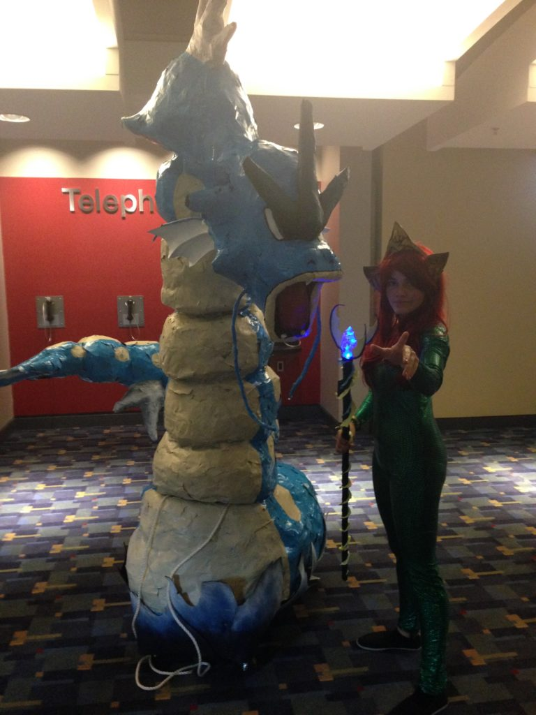 Aquagirl and a sea monster. Some of the props at AwesomeCon were simply amazing.