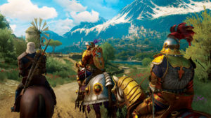 Knights on horseback populate the lands of this DLC. In fact, you could even become one of them as your adventure.