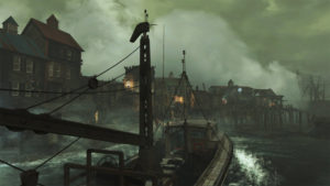 You arrive at the seaside town of Far Harbor by boat, but unlike some other DLCs, can travel back to the main game area as often as you wish.