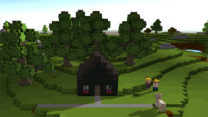 What's wrong little Voxel cow? Is there a pixelated wolf in the woods?