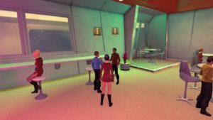 Meeting McCoy and Scotty on Earth Space Dock in Star Trek Online Agents of Yesterday.