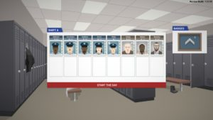 The player assumes the role of police chief in charge of Freeburg's finest. Shift A officers about to start the day.