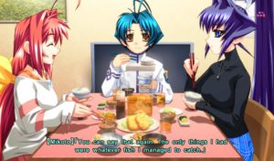 Mikoto joins Meiya and Sumika at Takeru's home for dinner.