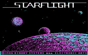 My beloved Starflight, as big as open worlds could get back in the days of 8088 chipsets. Sigh, so missed.