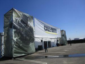 The Infinite Warfare tent.