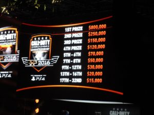 An image showing the prize awarded in the Call of Duty Championship.