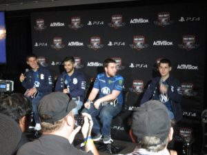 Team EnVyUs press conference. Jkap, Apathy, John, Slasher.and John.