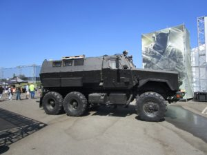 A military vehicle