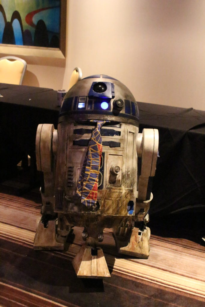 R2-D2 even put on his Sunday best for the festivities.