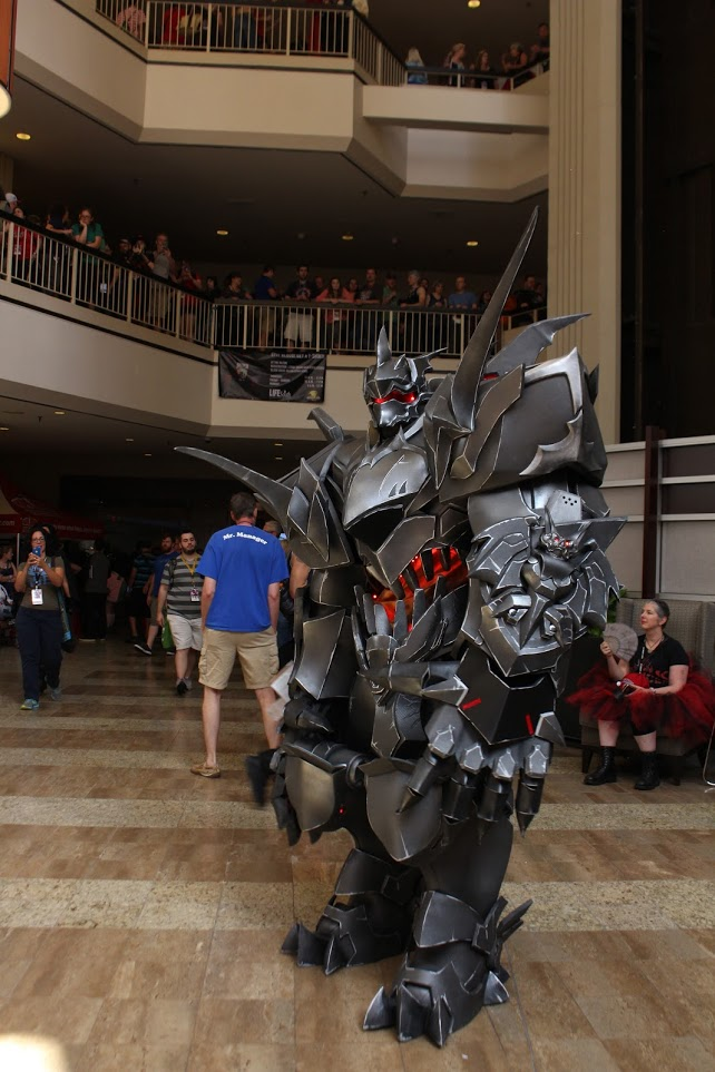 This Reinhardt from Overwatch costume was huge and extensive.