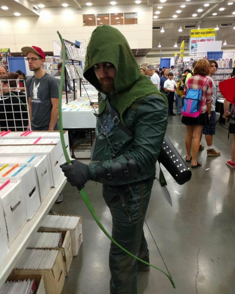 Green Arrow and his +5 longbow.