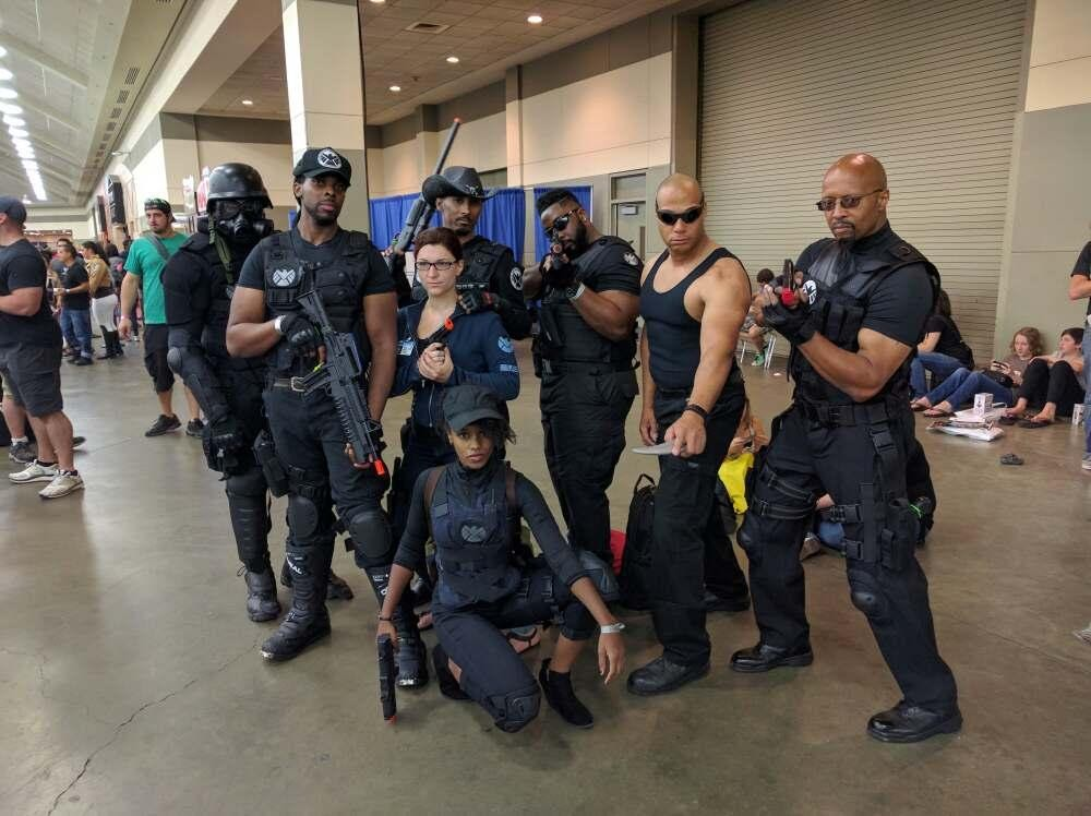 Baltimore Comic-Con was well protected by the Agents of SHIELD.