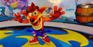 Taking selfies with a loveable goofball like Crash Bandicoot is all part of the fun.